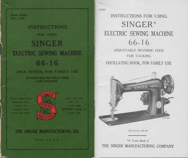 Models 4040 Delectable Singer Industrial Sewing Machine Instruction Manual
