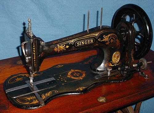 ID Singer Machines Classy Antique Singer Sewing Machine Model 15 91